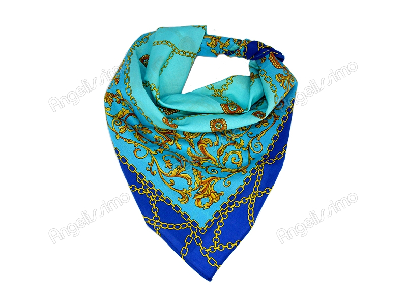 Платок на голову синего цвета