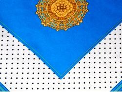 Платок шейный в черную точку с золотым рисунком в центре